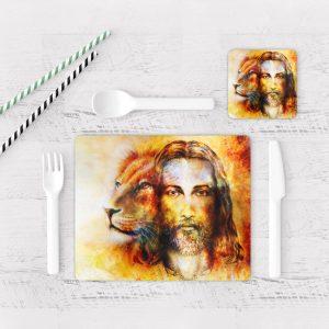 Individuales De Mesa Modernos para Comedor Jesús Cristo 09