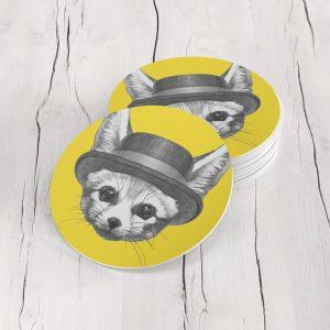 Porta Vasos Redondo Zorro 01