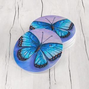 Porta Vasos Redondo Mariposa 66