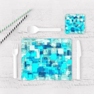 Individuales De Mesa Modernos para Comedor Abstracto 361