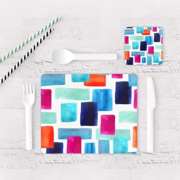 Individuales De Mesa Modernos para Comedor Abstracto 144