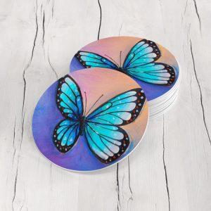 Porta Vasos Redondo Mariposa 69