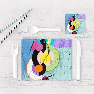Individuales De Mesa Modernos para Comedor Abstracto 85