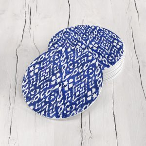 Porta Vasos Redondo Figura Geométrica Azul 04
