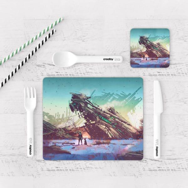 Individuales De Mesa Modernos para Comedor Fantasía 01