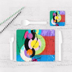 Individuales De Mesa Modernos para Comedor Abstracto 86