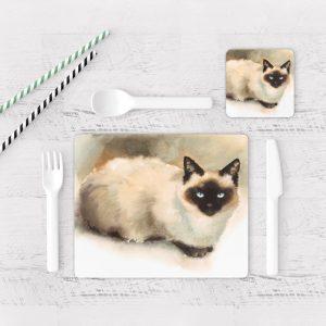 Individuales De Mesa Modernos para Comedor Gatos 62