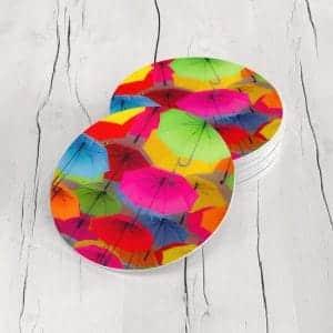 Porta Vasos Redondo Sombrillas Colores 01