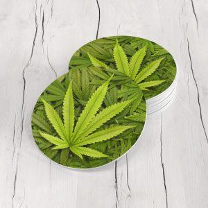 Porta Vasos Redondo Cannabis 01