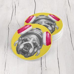 Porta Vasos Redondo Perro 31
