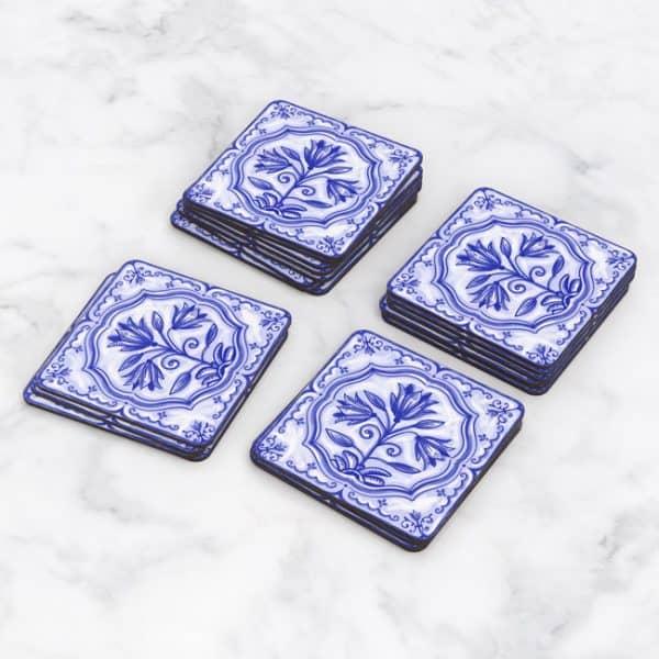 Porta Vasos Cuadrado Azulejos Portugueses 21