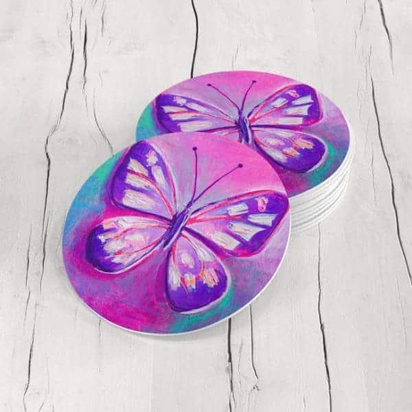 Porta Vasos Redondo Mariposa 83