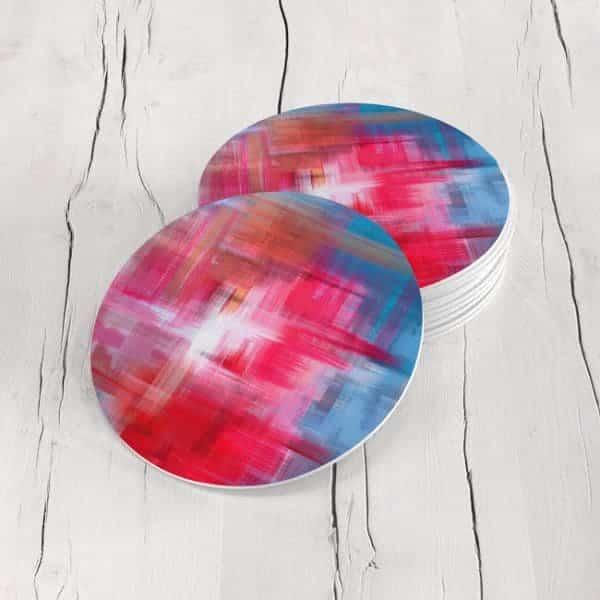 Porta Vasos Redondo Abstracto 305