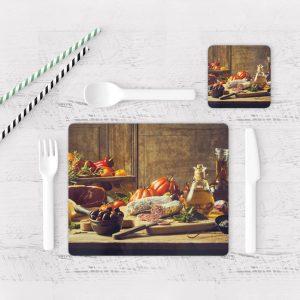 Individuales De Mesa Modernos para Comedor Bodegón 04