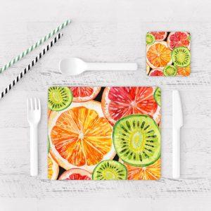 Individuales De Mesa Modernos para Comedor Naranjas 04