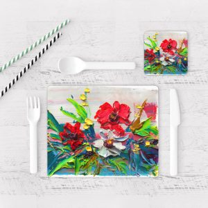 Individuales De Mesa Modernos para Comedor Flores 141