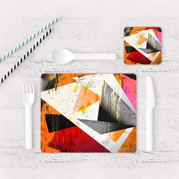Individuales De Mesa Modernos para Comedor Abstracto 105