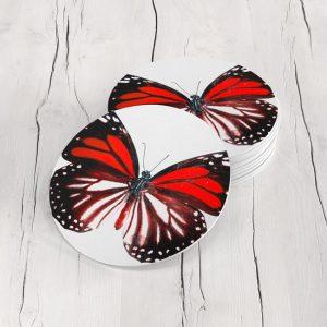Porta Vasos Redondo Mariposa 31
