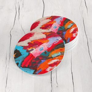Porta Vasos Redondo Pintura Abstracta 47