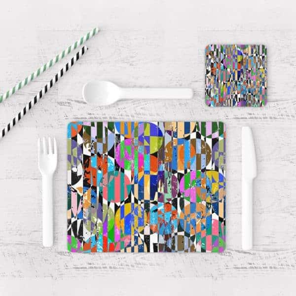 Individuales De Mesa Modernos para Comedor Abstracto 103