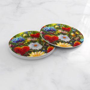 Porta Vasos Redondo Pintura Flores 96