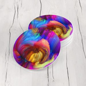 Porta Vasos Redondo Abstracto Colores 24