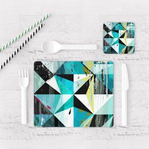 Individuales De Mesa Modernos para Comedor Abstracto 93