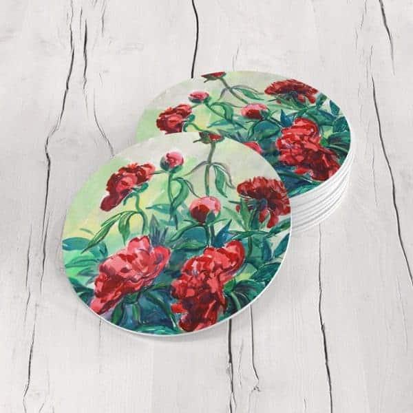 Porta Vasos Redondo Pintura Flores 131