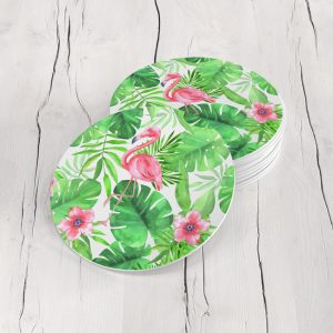 Porta Vasos Redondo Flores 183