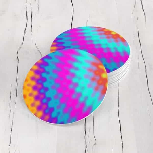 Porta Vasos Redondo Abstracto Colores 25