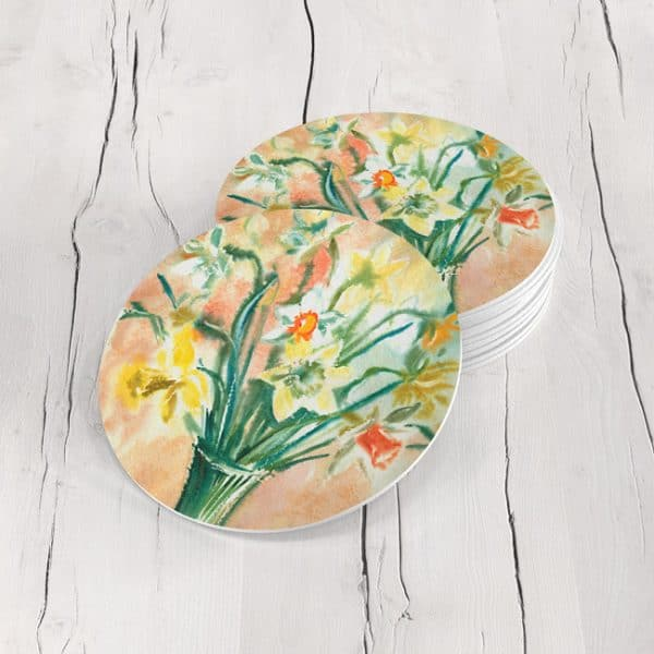 Porta Vasos Redondo Pintura Flores 130