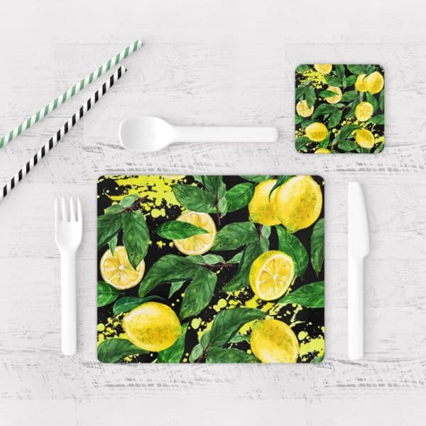 Individuales De Mesa Modernos para Comedor Limones 04