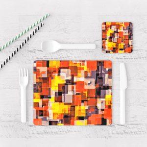 Individuales De Mesa Modernos para Comedor Abstracto 362