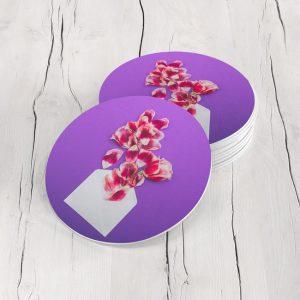 Porta Vasos Redondo Flores 181
