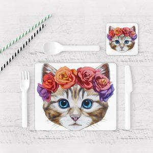 Individuales De Mesa Modernos para Comedor Gato 27
