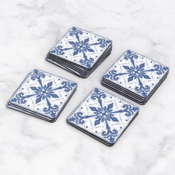 Porta Vasos Cuadrado Azulejos Portugueses 22