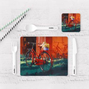 Individuales De Mesa Modernos para Comedor Bicicleta Vintage 26