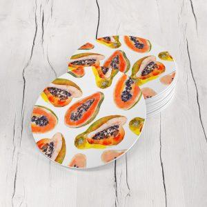 Porta Vasos Redondo Papaya 01