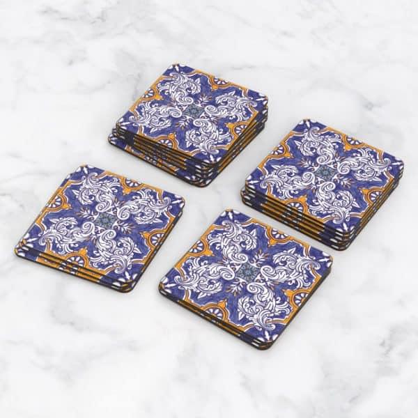 Porta Vasos Cuadrado Azulejos Portugueses 19