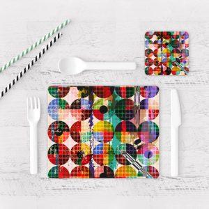 Individuales De Mesa Modernos para Comedor Abstracto 104