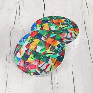 Porta Vasos Redondo Abstracto 302