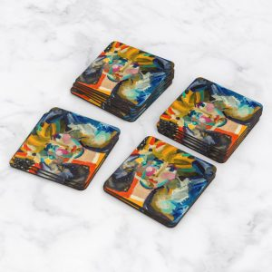 Porta Vasos Cuadrado Pintura Mujer 01