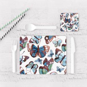 Individuales De Mesa Modernos para Comedor Mariposa 67