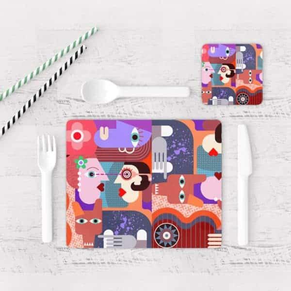 Individuales De Mesa Modernos para Comedor Picasso 06