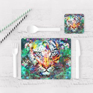 Individuales De Mesa Modernos para Comedor Tigre Colores 03