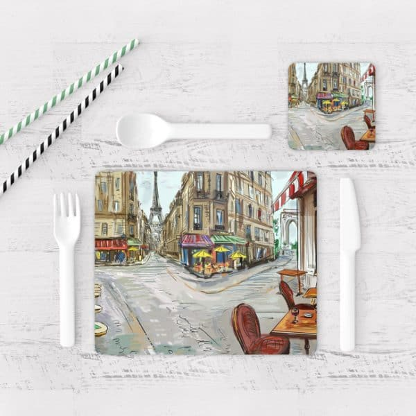 Individuales De Mesa Modernos para Comedor Pintura Paris 05