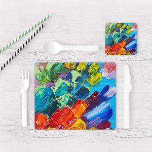 Individuales De Mesa Modernos para Comedor Pintura Pincel 14
