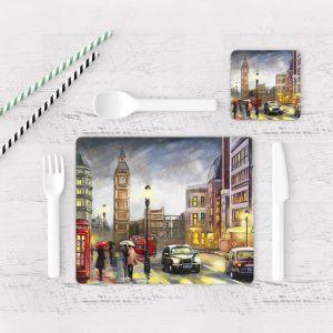 Individuales De Mesa Modernos para Comedor Pintura London 04