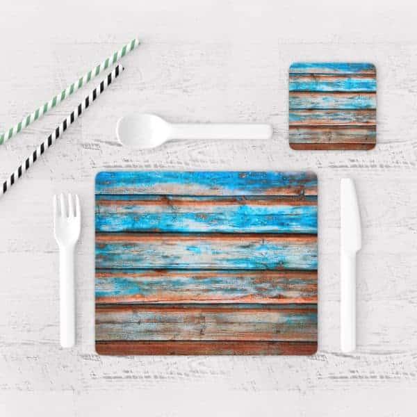 Individuales De Mesa Modernos para Comedor Textura Madera 13