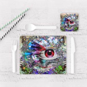 Individuales De Mesa Modernos para Comedor Ojos Colores 05